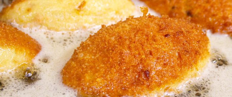 サクサクのパン生地のカレーパン