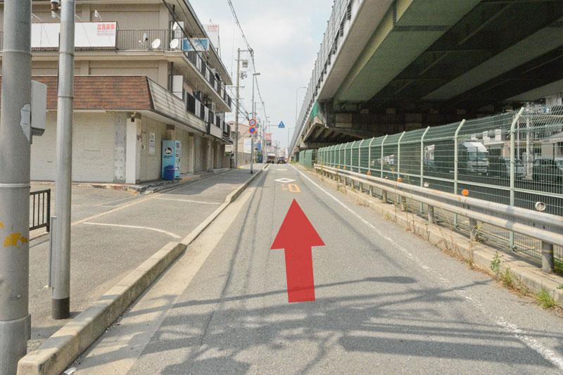 反対車線来店ルート8