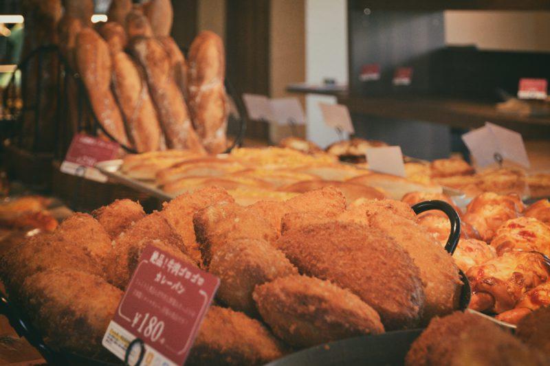 パンの陳列風景